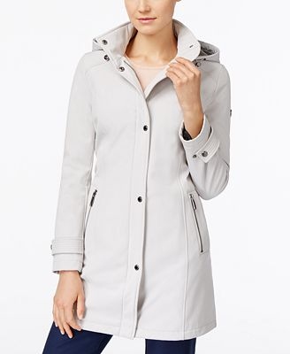 Calvin Klein Hooded 4-Way Stretch Water-Resistant Softshell Raincoat