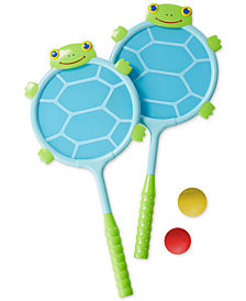 Melissa & Doug Kids' Dilly Dally Turtle Racquet & Ball Set