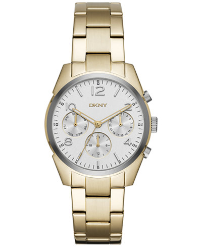 DKNY Women's Crosby Gold-Tone Stainless Steel Bracelet Watch 36mm NY2471