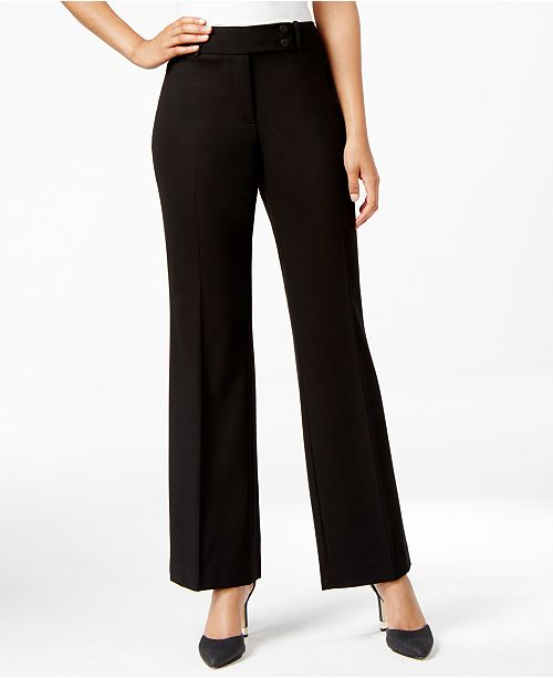 Calvin Klein Fit Solutions Curvy Straight-Leg Trousers