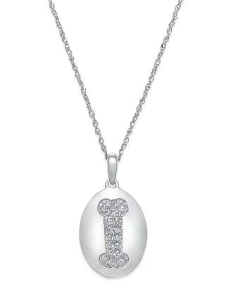 Diamond dog bone pendant necklace 15 ct tw in 14k white gold diamond dog bone pendant necklace 15 ct tw in 14k white aloadofball Gallery
