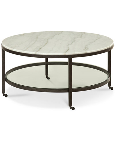 Stratus Round Coffee Table, Created for Macy's - Stratus Round Coffee Table, Created For Macy's - Furniture - Macy's