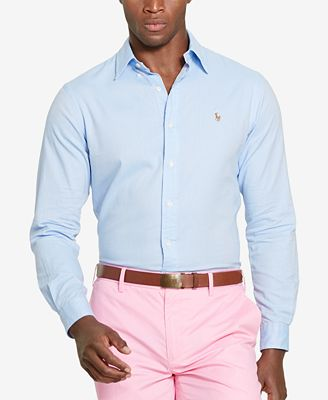 Polo Ralph Lauren Men's Chambray Oxford Shirt - Casual Button-Down ...