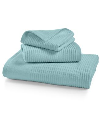 Image of Martha Stewart Collection Quick Dry Reversible Wash Towel, Created for Macy's