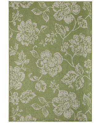 CLOSEOUT! Momeni Breezeway Indoor/Outdoor Floral 5'3
