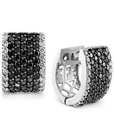 Effy Diamond Hoop Earrings 2 Ct T W In 14k White Gold