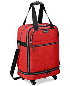 "Biaggi Zipsak 22"" Microfold Carry-On Spinner Suitcase"
