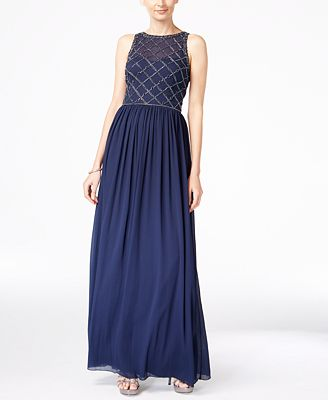 Sale alerts for  Beaded A-Line Gown - Covvet