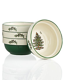 Spode Christmas Tree Set of 4 Stacking Bowls