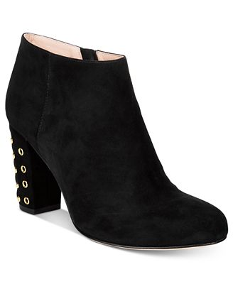Kate Spade New York Suede Round-Toe Booties