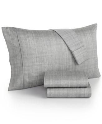 Modern Plaid 525 Thread Count Pair of Standard Pillowcases, Created for Macy's