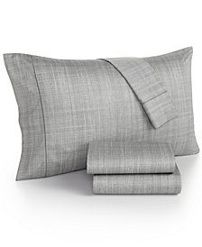 Hotel Collection Modern Plaid 525 Thread Count Twin Sheet Set, Created for Macy's