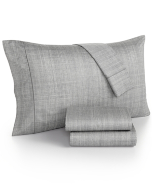 Hotel Collection Modern Plaid 525 Thread Count Twin Sheet Set Created for Macys Bedding