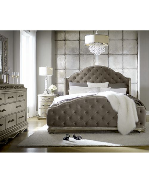 . Zarina Bedroom Furniture  3 Pc  Set  Queen Bed  Dresser   Nightstand
