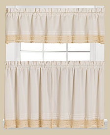 Saturday Knight Heritage Macramé Trim Valance and Tier Pair Collection
