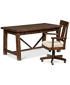 Ember Home Office Furniture, 2-Pc. Set (Desk & Desk Chair)