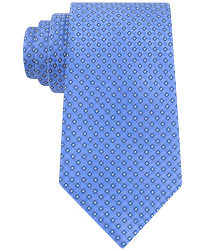 Club Room Men's Geo-Pattern Classic Tie, Only at