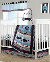 e687b73038 Nautica Whale of a Tale 4 Piece Crib Bedding Set