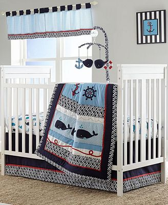 Nautica Whale Of A Tail Crib Bedding Collection Bed In A Bag Bed