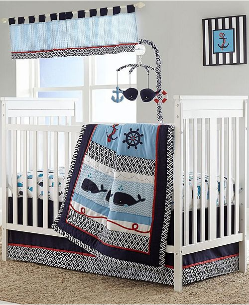 The Nautical Inspired Theme Of Whale A Tale Crib Bedding Collection From Nautica Brings Soothing Presence To Your Little One S Bedroom