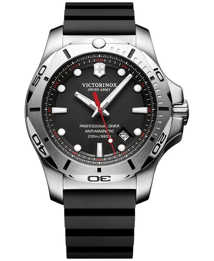 Victorinox Swiss Army - Men's Swiss I.N.O.X. Professional Diver Black Rubber Strap Watch 45mm 241733.1