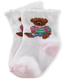 Ralph Lauren Baby Girls Teddy Crew Socks Pair