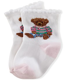 Ralph Lauren Baby Girls Teddy Crew Socks Pair