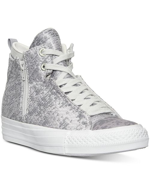 03b87c4265b2 ... Converse Women s Selene Winter Knit High-Top Casual Sneakers from  Finish ...
