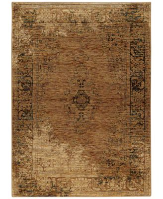 "Journey  Cava Gold 8'6"" x 11'7"" Area Rug"