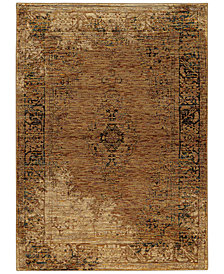 "Macy's Fine Rug Gallery Journey  Cava Gold 7'10"" x 10'10"" Area Rug"