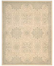 kathy ireland Home Royal Serenity Collection St. James Bone Area Rug