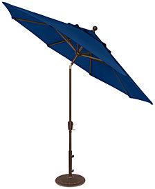 Outdoor Bronze 9' Push Button Tilt Umbrella, Quick Ship