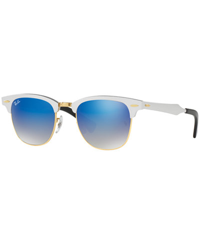 Ray-Ban Sunglasses, RB3507 51 CLUBMASTER ALUMINUM