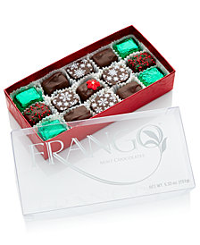 Frango Chocolates, 15-PC Holiday Decorated Dark Mint Box of Chocolates