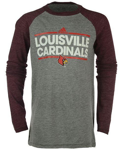 adidas Louisville Cardinals Dassler Tri-Blend Raglan T-Shirt, Big Boys (8-20)