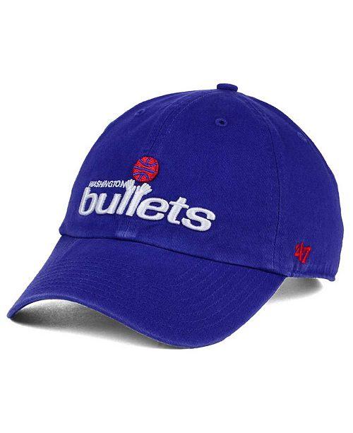 87a18f2563ef7 ...  47 Brand Washington Bullets Hardwood Classics Clean Up Cap    ...