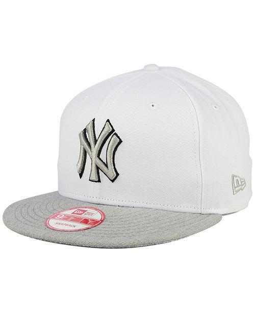 4c5f9ede7a1 ... New Era New York Yankees White Heather Gray Black 9FIFTY Snapback Cap  ...