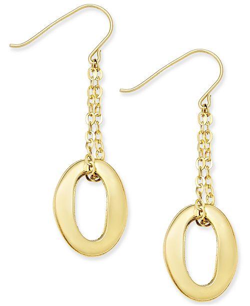 Macy's Oval Chain Drop Earrings in 10k Gold