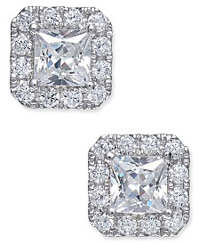 Diamond Square Stud Earrings (1-1/2 ct. tw.) in 18k White Gold