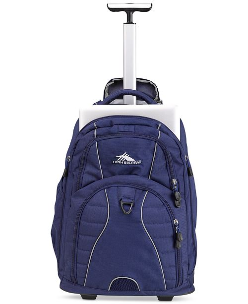 519e99dd307 High Sierra. Freewheel Rolling Backpack in True Navy. 11 reviews. 1  Questions   1 Answers. main image  main image  main image ...