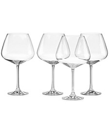 Stemware, Tuscany Burgundy Glasses, Set of 4