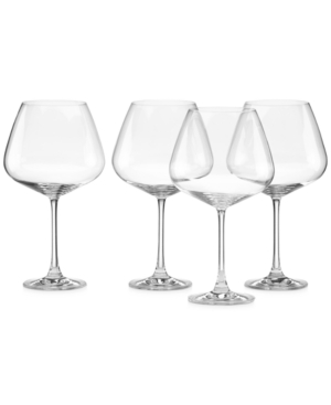 Lenox Stemware, Tuscany Burgundy Glasses, Set of 4