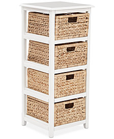 Darina 4 Tier Storage Unit, Quick Ship