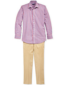 Tommy Hilfiger Gingham Shirt and Twill Pants Separates, Boys