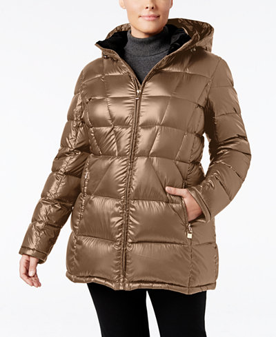 Calvin Klein Plus Size Hooded Packable Puffer Coat Only