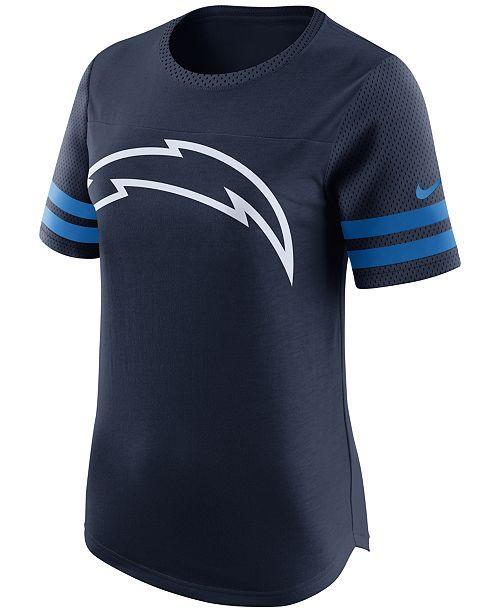 Nike Women s San Diego Chargers Gear Up Fan Top T-Shirt - Sports Fan ... 9c3ec6df85
