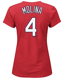 Majestic Women's Yadier Molina St. Louis Cardinals T-Shirt