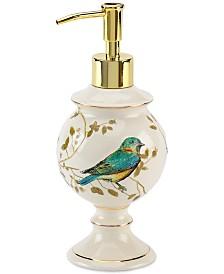 Avanti Bath Accessories, Gilded Birds Soap and Lotion Dispenser