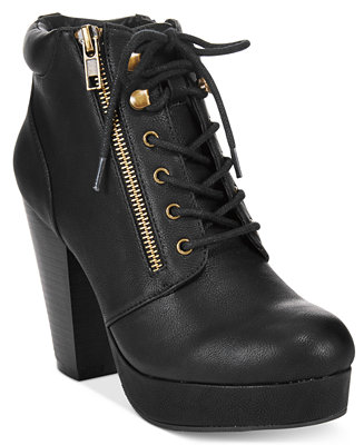 Material Girl Rheta Lace Up Platform Booties Created For