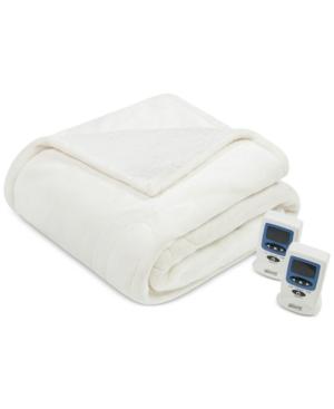 Beautyrest Microlight Berber Queen Heated Blanket Bedding